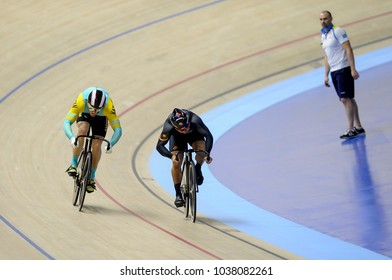 Malaysia, February 19th 2018: World number one, Malaysia Sprinter, Azizulhasni Awang (2nd right) competes during 38th Asian Track Championships 2018 at National Velodrome in Nilai.