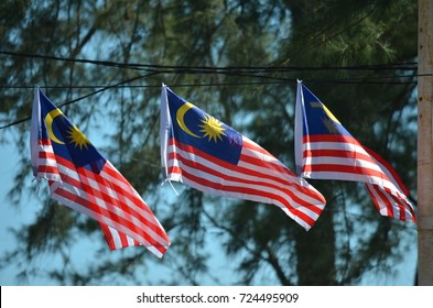 Malaysia Flag on Independence Day