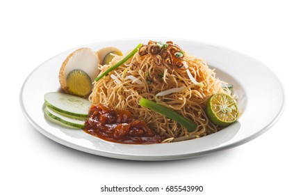 Malaysia food (Mee siam) , shrimp and Rice vermicelli stir fried