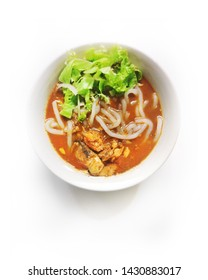 Malaysia Food series - Famous Assam laksa or Penang Laksa isolated in white background