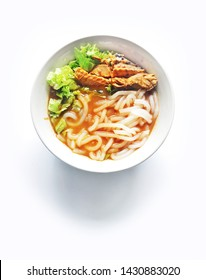 Malaysia Food series - Famous Assam laksa or Penang Laksa isolated on white background
