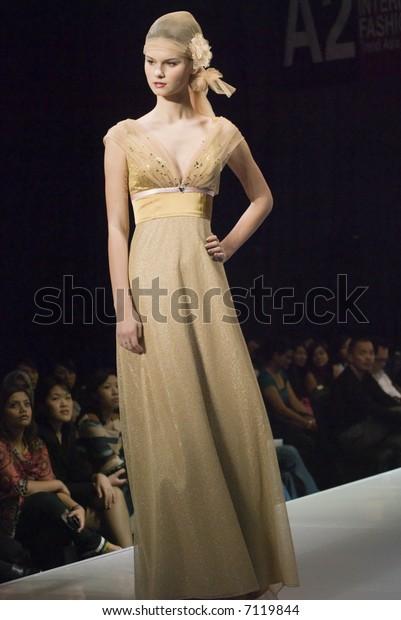 Malaysia International Fashion Week 2007 Runway People Stock Image 7119844