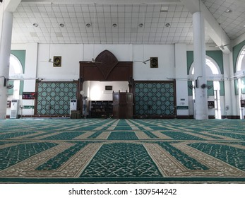 MALAYSIA, JOHOR BAHRU - FEBRUARY 9, 2019: the view inside the mosque. Places of worship for the Islamic community around.