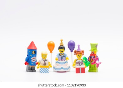 MALAYSIA, jul 01, 2018. lego minifigures series 18. Lego minifigures are manufactured by The Lego Group.