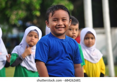 MALAYSIA - JULY 26: School sports are annual activities of children's competition under the auspices of the National Sports Institute, at 26 July 2017 at butterworth, Malaysia.