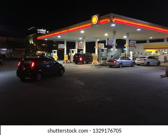 Malaysia, Kuala Lumpur - Macrh 3, 2019 :Vehicle owners choose Shell petrol stations for their vehicle fuel.