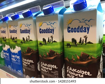Malaysia, Kuala Lumpur-JUNE 17 2019: Goodday is a well-known brand in malaysia producing dairy products sold in supermarkets and shops.
