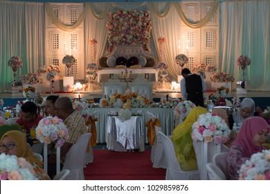 Muslim wedding images stock photos vectors shutterstock malaysia kuantan jan 2018 muslim wedding event people waiting for marriage couple junglespirit Images