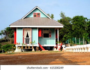 MALAYSIA, MELAKA - FEBRUARY 24, 2017: Traditional malay wooden house in Malaysia called 'RUMAH KAMPUNG', this heritage house can be found in country of Malacca.