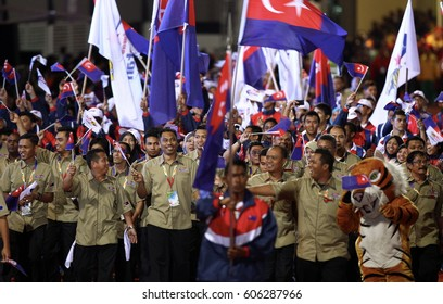 MALAYSIA, Perlis, 04 June 2014 - Contingent on the closing of Sukma XVII, 2014, in Stadium Tuanku Syed Putra, Kangar Sports Complex State.