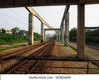 malaysia railway station sunset