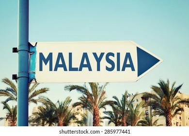 Malaysia Road Sign. Travel Destination