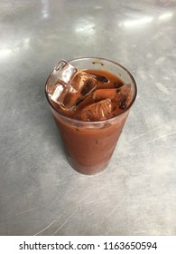 Malaysia style iced coffee, a drinks with mixture of roasted coffee and saturated milk. The drinks can be found and serve in hawker.
