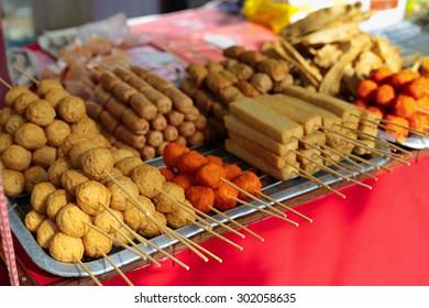 Malaysian fried hawker snacks.