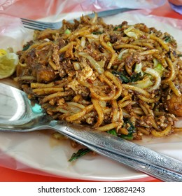 """Malaysian local fried noodles by Indian called """"Mee Goreng Mamak""""."""