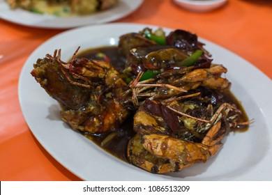 Malaysian style shrimp stir-fry