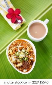 malaysian traditional food.mee rebus is a popular food in Malaysia
