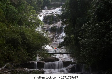 Malaysia,Perak-April 2019 - Beautiful waterfall in Perak.Famous tourist attractions and landmarks.
