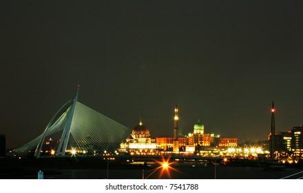 Malaysia's administrative capital of Putrajaya at night.