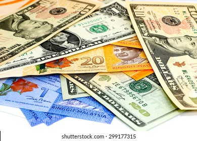 Malaysia's Ringgit currency vs US Dollar currency