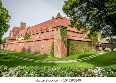 Malbork Castle in Gdansk, Poland