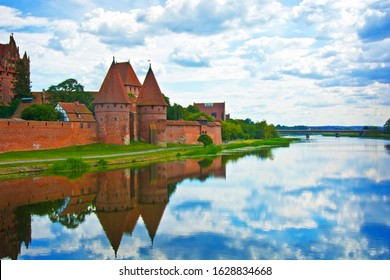 Malbork castle. Largest castle in europe also known as the Castle of the Teutonic Order in Malbork.
