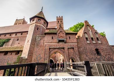 Malbork Castle near Gdansk, Poland