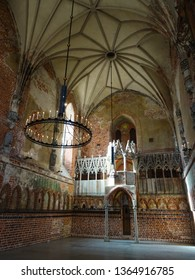 Malbork castle / Poland - 03 26 2019 : The Blessed Virgin Mary Chruch located inside Malbork castle (Marienburg), largest castle in world, built by Teutonic knights in 13th century, Malbork, Europe