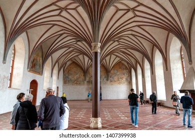 Malbork Castle, Malbork / Poland - 05/08/2019 Castle of the Teutonic Order in Malbork is a 13th-century castle located near the town of Malbork, Poland. It is the largest castle in the world.