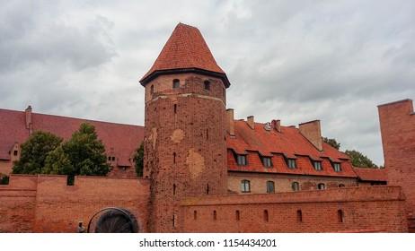 Malbork Castle, Malbork, Poland. 13 of September of 2017.