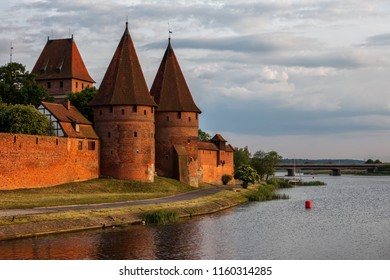 The Malbork Castle In Poland At The Nogat River