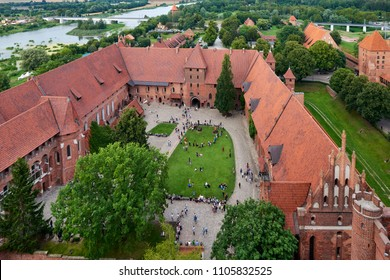 Malbork Castle, view from the main tower, Poland.