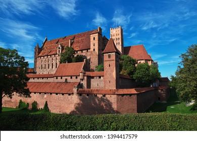 Malbork is Crusader castle in Poland