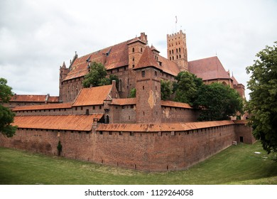 Malbork, medieval teutonic castle in Poland