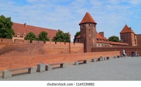 Malbork, Poland - 16.06.2018: Malbork Castle on a sunny day