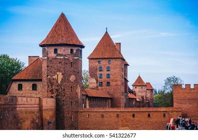 MALBORK, POLAND - MAY 2016: Malbork castle