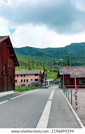 Malbun, Liechtenstein, 20th August 2018:- A view of the main street in Malburn, the only ski resort in Liechtenstein
