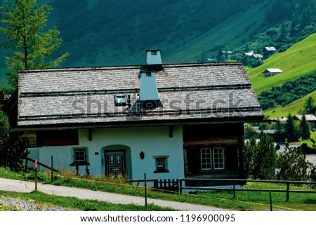 Malbun, Liechtenstein, 20th August 2018:- Views of buildings in Malbun, the only ski resort in Liechtenstein