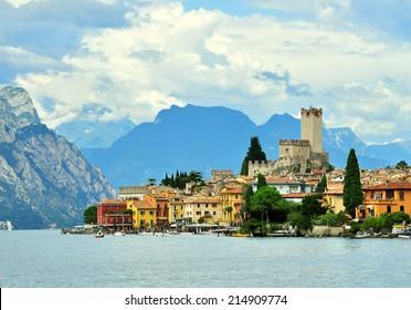 Malcesine, Garda lake, Italy. Natural landscape