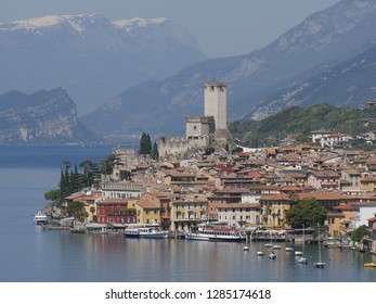 Malcesine, Garda Lake - panorama of the lake from the trail along the southern lakeside