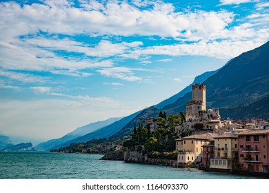 Malcesine is a town on the eastern shore of Lake Garda in the Province of Verona in the Italian region Veneto,