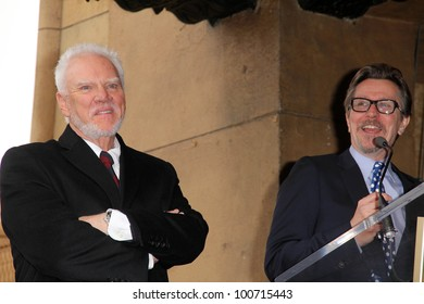 Malcolm McDowell, Gary Oldman at the Malcolm McDowell Star on the Hollywood Walk of Fame, Hollywood, CA 03-16-12