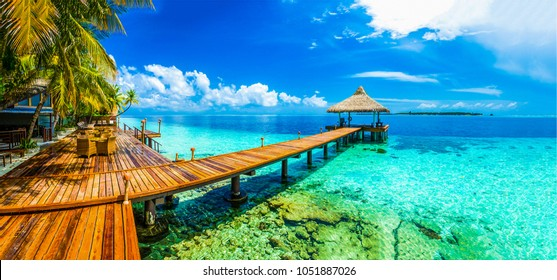 Maldiv beach resort panoramic landscaps