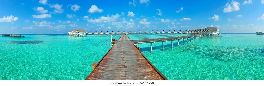 Maldive water villa - bungalows Panorama
