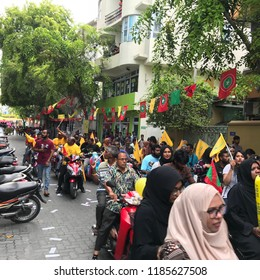 Maldives - 22 Sep 2018; Final campaign Rally for Maldives presidential election 2018