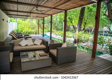 Maldives, 23 march 2013: Holiday Inn Resort Kandooma Maldives, a place for relaxation, massage.