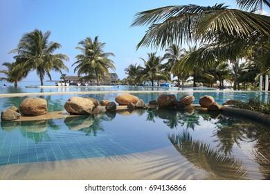 Maldives, 23 march 2013: Holiday Inn Resort Kandooma Maldives.
