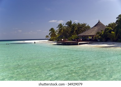 Maldives lonely beach