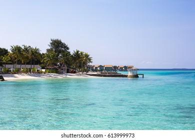 Maldives. Luxury resort. Ocean view.