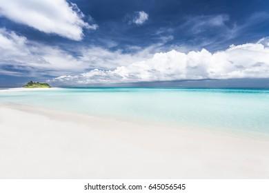 Maldives. Paradise tropical beach.